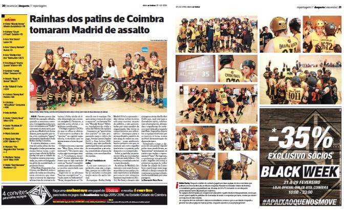 Diário As Beiras:Rainhas dos patins de Coimbra tomaram Madrid de assalto