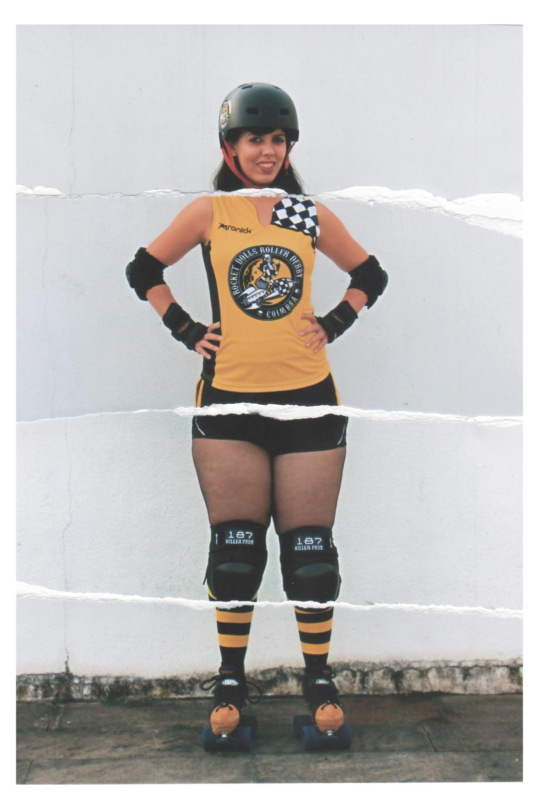 Sabes qual é o corpo ideal para uma jogadora de roller derby? Todos! Mete-lhe dentro dedicação, determinação, garra, muito treino e uma boa dose de loucura! Et voilà! Aqui está ela…